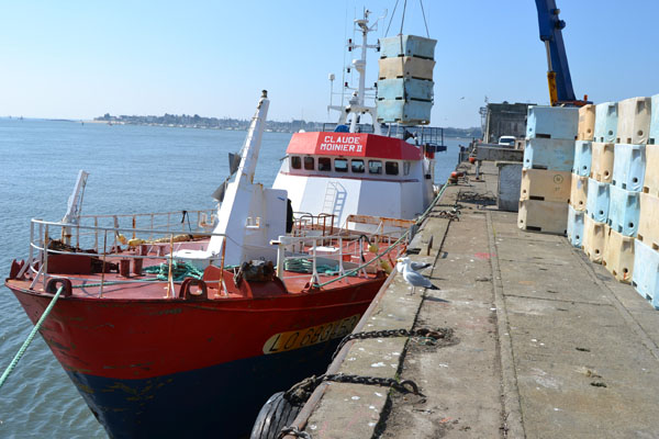 Déchargement d'un navire de la Scapêche - Photo : Jacques Le Meur
