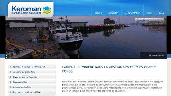 Extrait du site internet du port de pêche de Keroman
