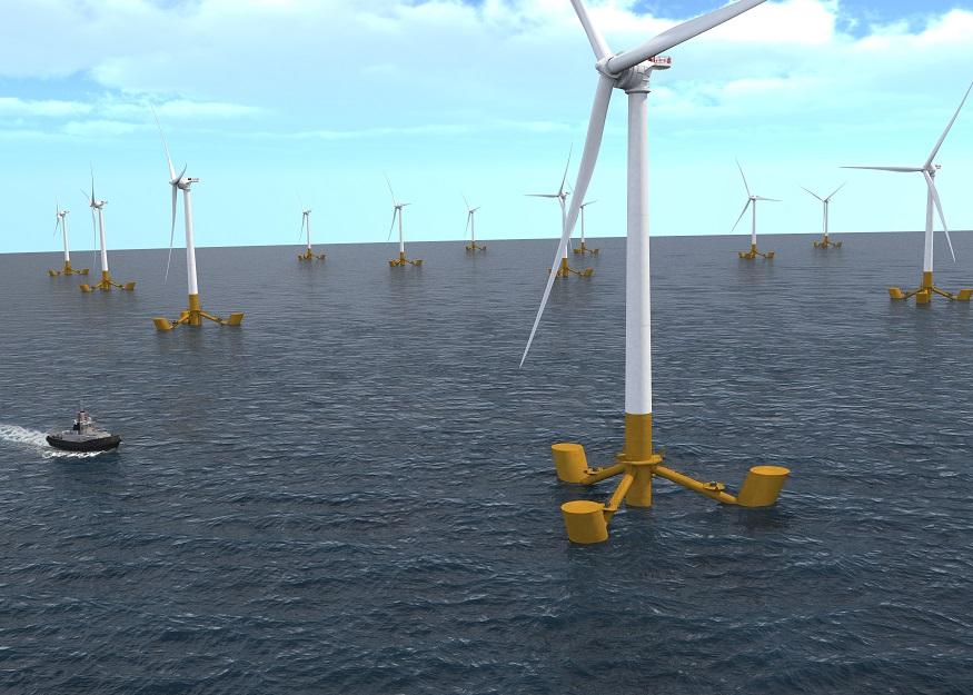 Groix : les débuts de l'éolien flottant