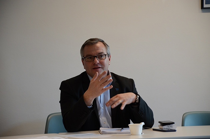 Olivier Le Nezet, président du Comité régional des pêches maritimes et des élevages marins de Bretagne