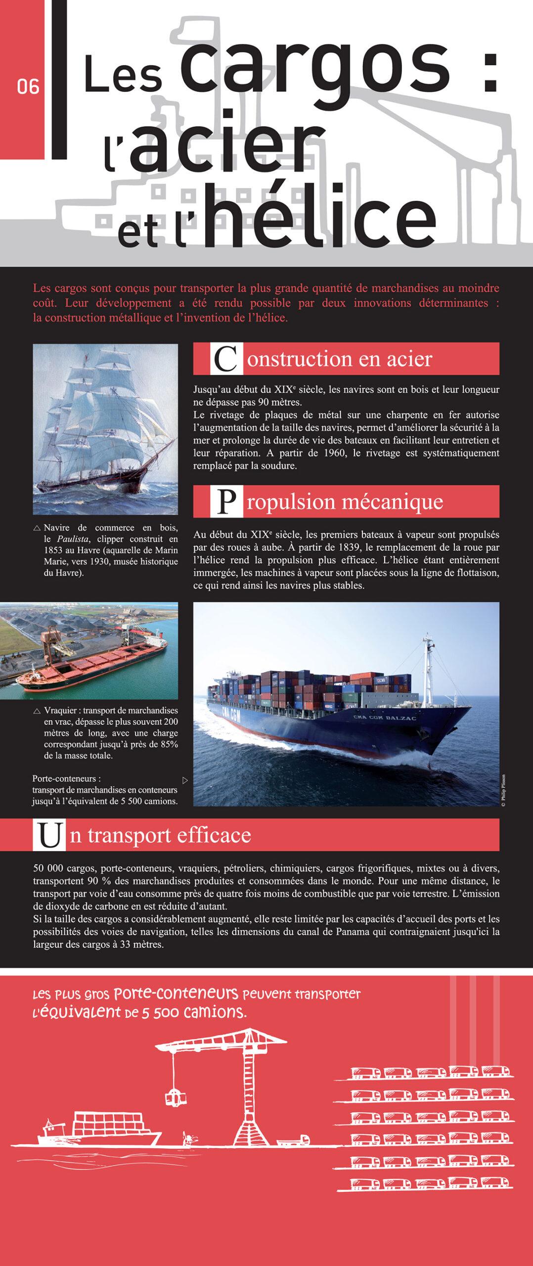 Montrer les innovations marquantes de différents types de navires