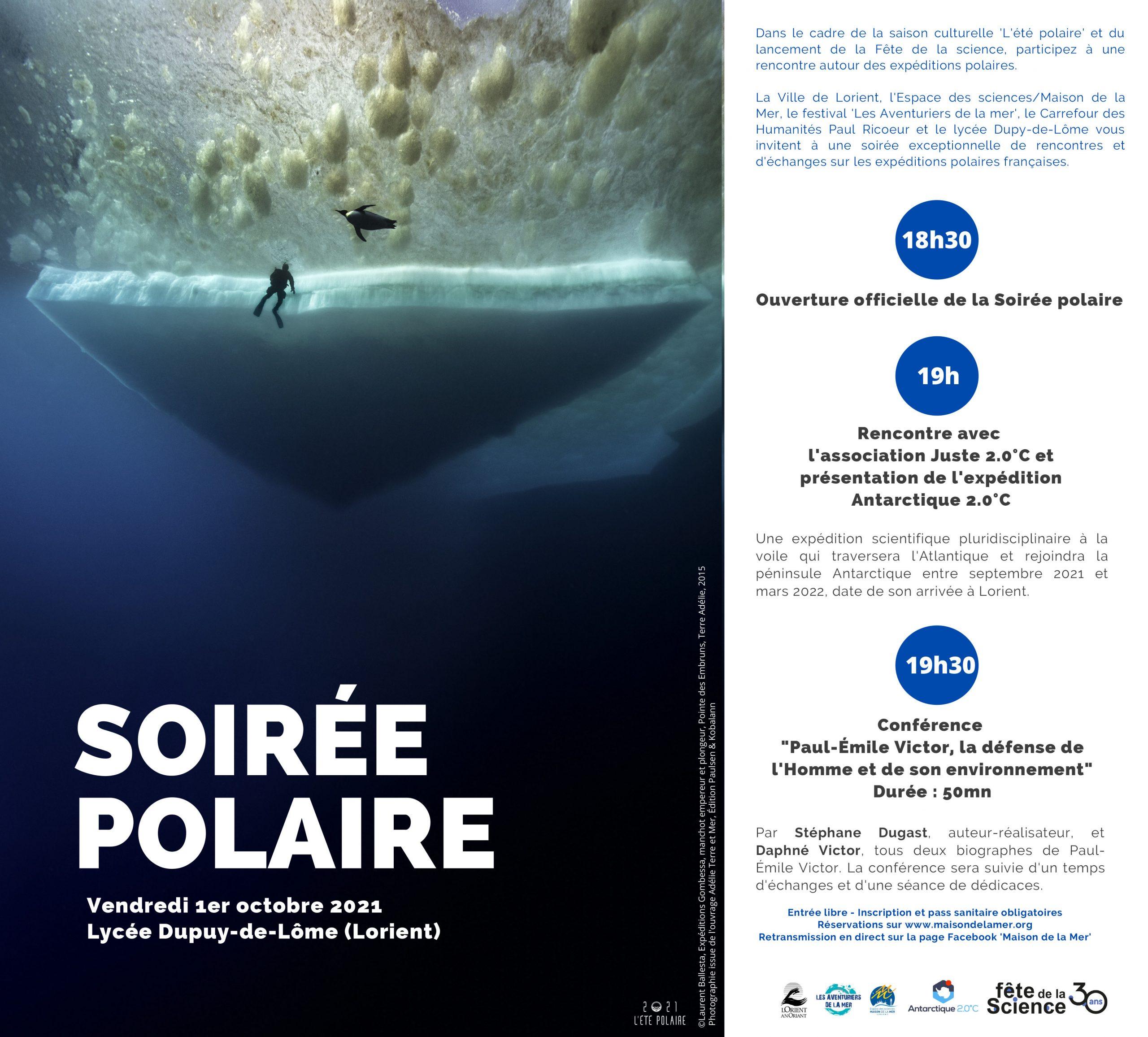Soirée polaire, ouverture de la Fête de la science dans le Morbihan